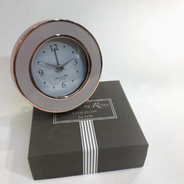 Rose gold plated alarm clock