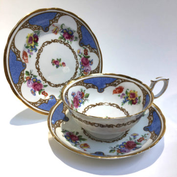 Vintage bone china trio