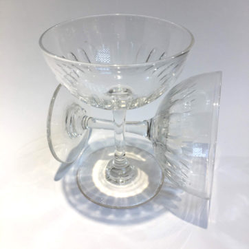 Pair of vintage champagne saucers
