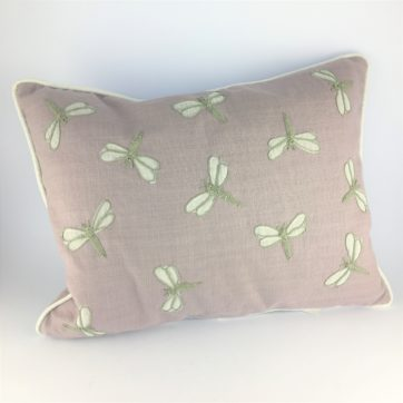 Lavender dragonfly cushion