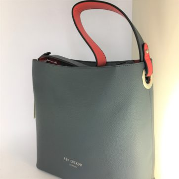 Grey Red Cuckoo Shoulder bag