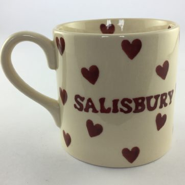Salisbury Mug – Red hearts