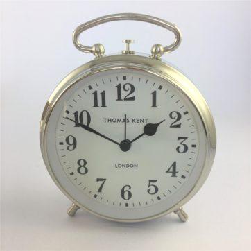 Thomas Kent Polished Steel Puffin alarm clock