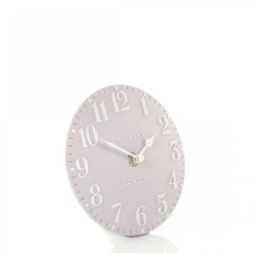 Thomas Kent Arabic Mantel Clock – Dove Grey