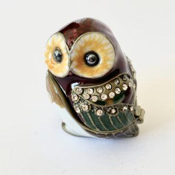Enamel trinket box – Owl
