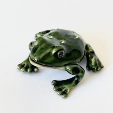 Enamel trinket box – Frog