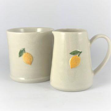 Mini jug and mug – Lemon