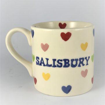 Salisbury Mug – Rainbow hearts