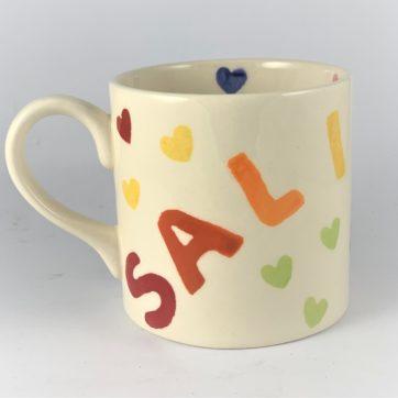 Salisbury Mug – Rainbow letters