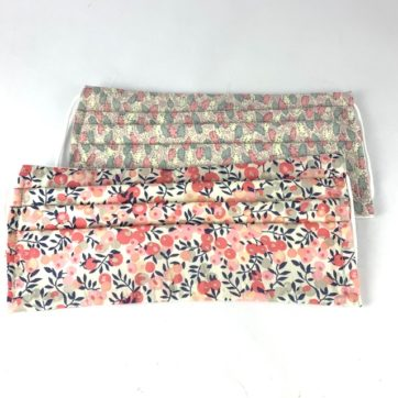 Pair of cotton face coverings