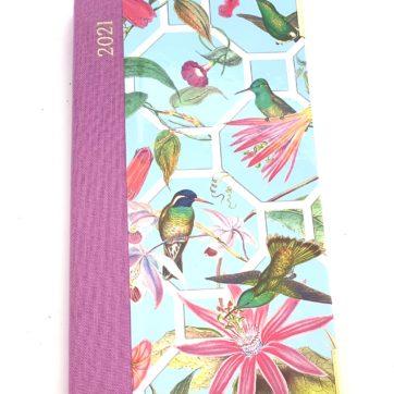 Caspari slimline diary – humming bird