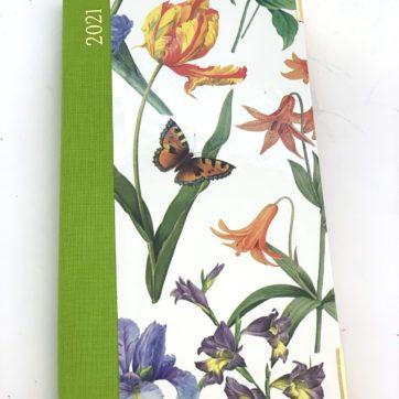 Caspari slimline diary – tulip