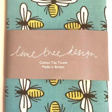 Lime Tree design tea towel – bee