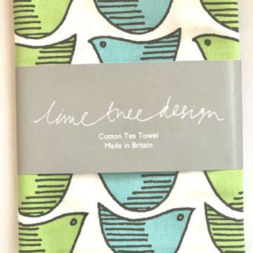 Lime Tree design tea towel – bird