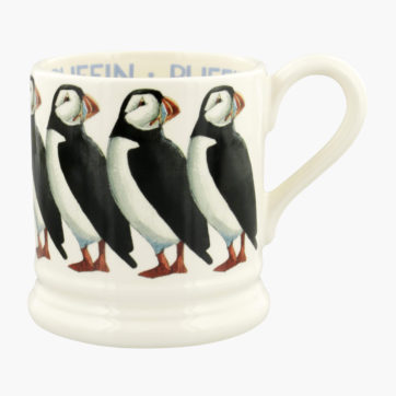 Emma Bridgewater Puffins half pint mug