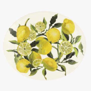 Vegetable Garden Lemons Medium Oval Platter