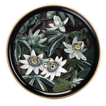 Round Passion Flower Tray