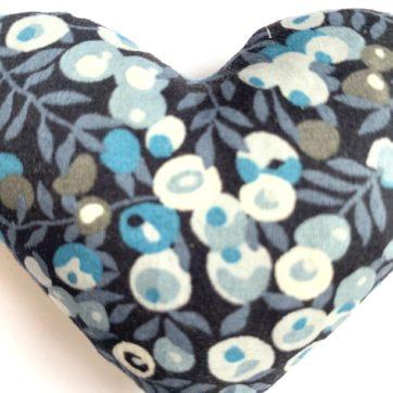 Lavender filled LIBERTY heart – Blue