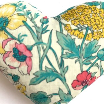 Lavender filled LIBERTY heart – Yellow multi