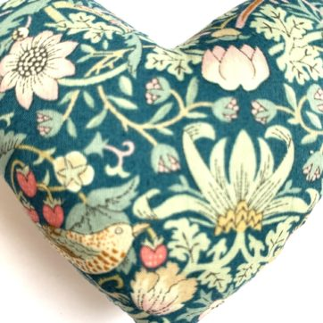 Lavender filled LIBERTY heart – Green