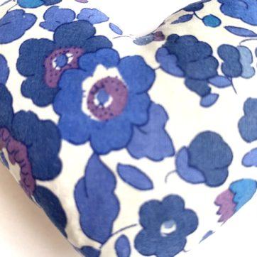 Lavender filled LIBERTY heart – Royal Blue