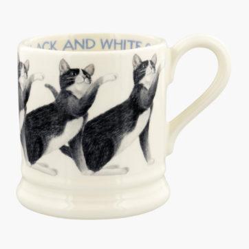 Emma Bridgewater Black & White Cat half pint mug