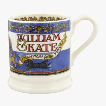 Emma Bridgewater William & Kate 10th Anniversary half pint mug