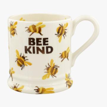 Emma Bridgewater Bee kind half pint mug
