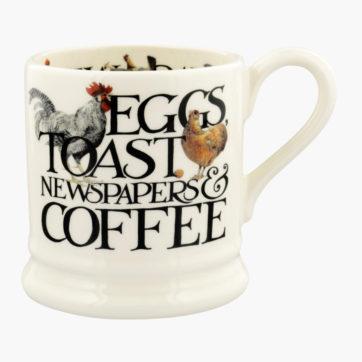 Emma Bridgewater Eggs & Toast half pint mug