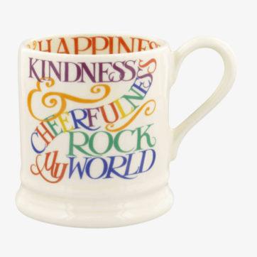 Emma Bridgewater Kindness & Cheerfulness half pint mug