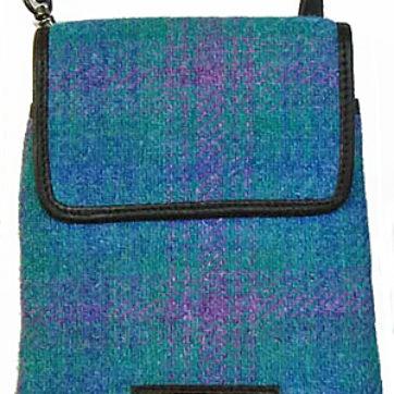 Shona Easton – Harris Tweed Mika Bag – Turquoise